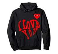 Heart For Comme Lovely In The Des Gift T-shirt Of Garcon Tee Hoodie Black