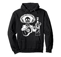 Mariachi Skeleton With Tequila Dia De Los Muertos Shirts Hoodie Black