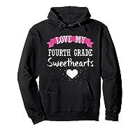 Tea Valentine Day Love My Fourth Grade Sweethearts Shirts Hoodie Black