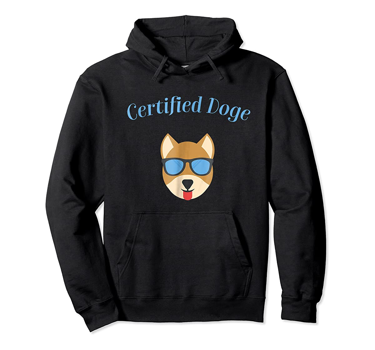 Certified Doge Tee Shirt for puppy Dog love and Fur Babies-Hoodie-Black