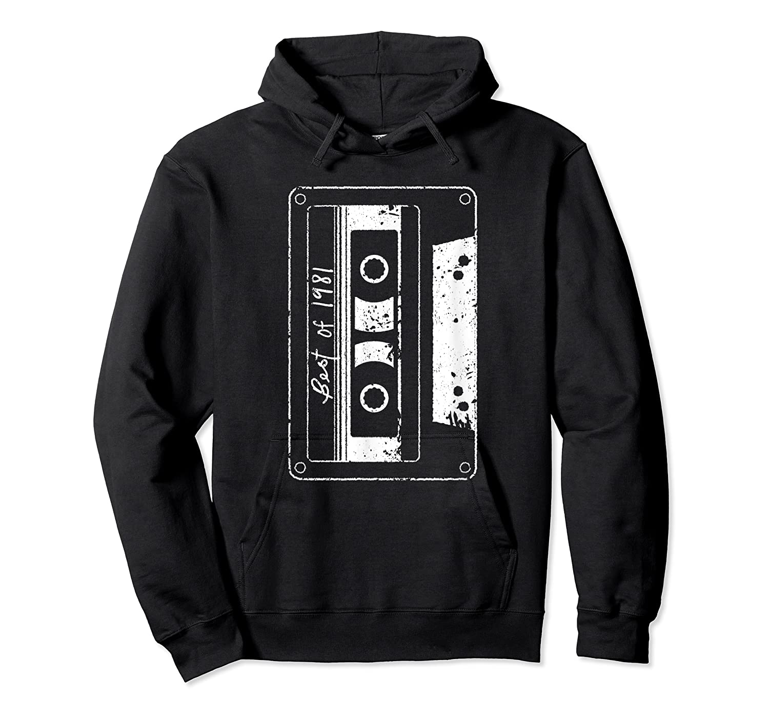 Vintage Best Of 1981 80s Tape Cassette Funny Dj Shirts Unisex Pullover Hoodie