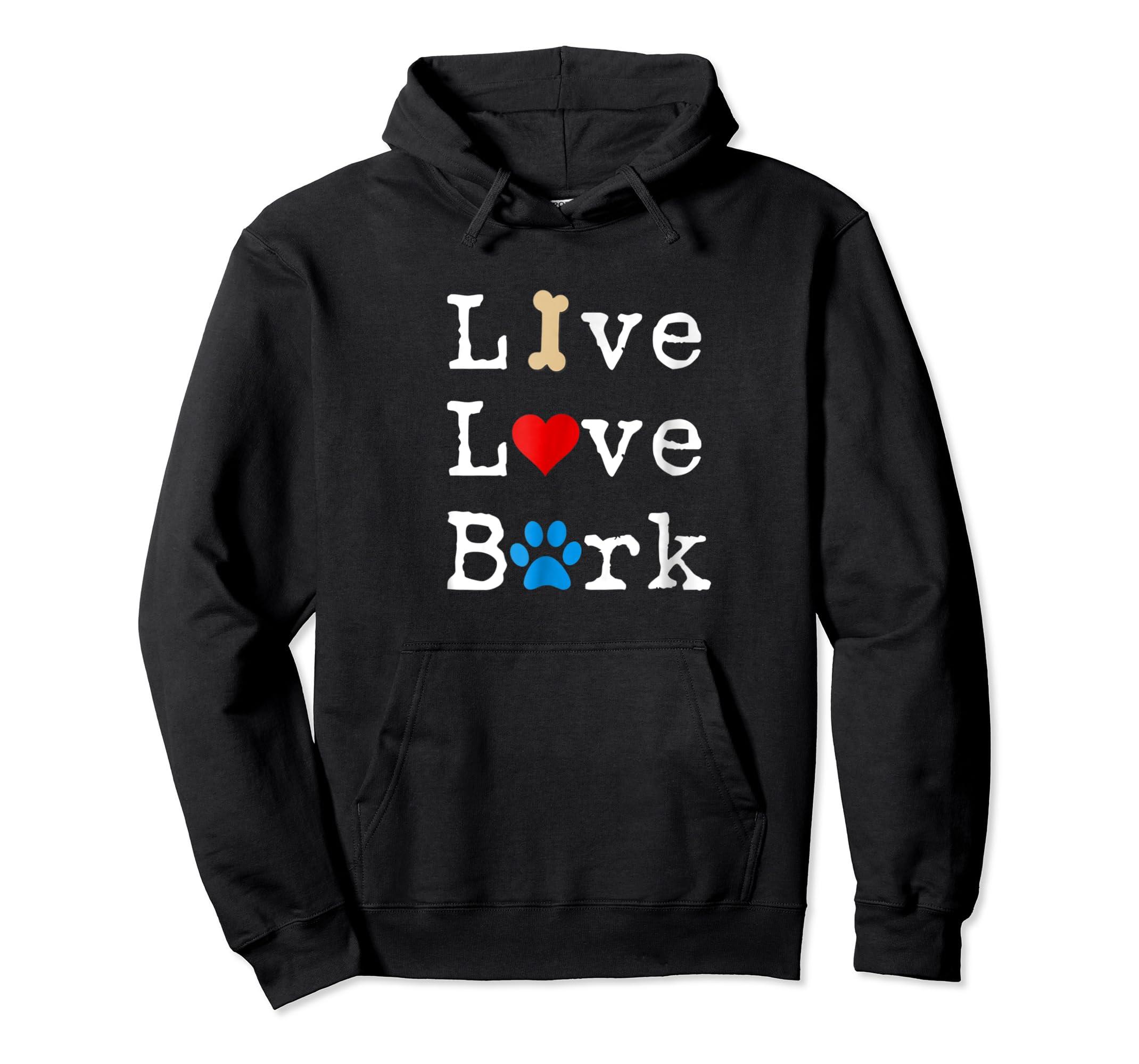 Live Love Bark T-Shirt-Hoodie-Black
