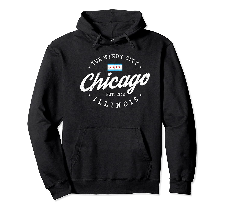 Chicago Shirt The Wind City Chicago Illinois Gift Shirt Premium T Shirt Unisex Pullover Hoodie