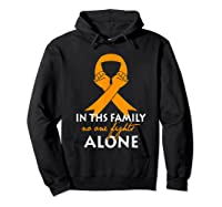 In This Family, No One Fight Alone Ms Shirts Hoodie Black