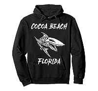 Cocoa Beach Shark Skeleton T Shirt Hoodie Black