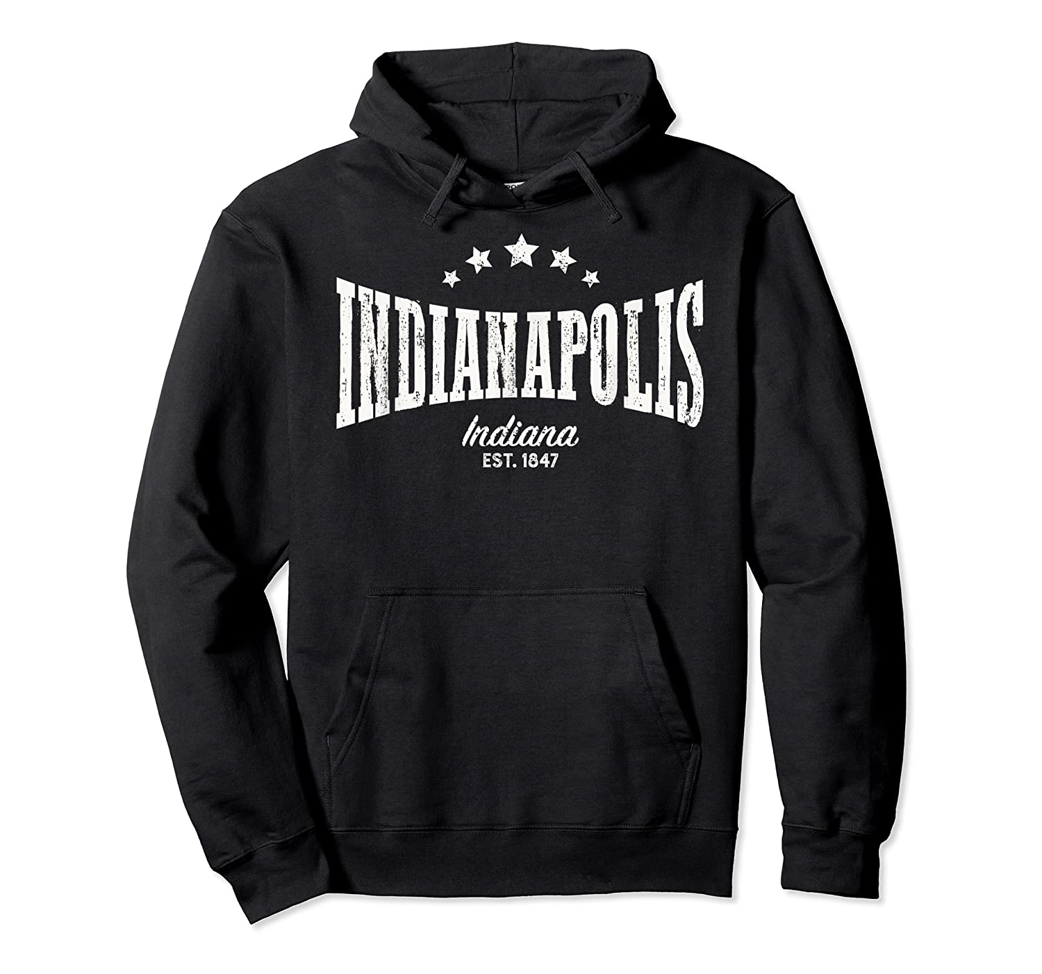 Indianapolis In Shirt Distressed Vintage Home City Pride Unisex Pullover Hoodie