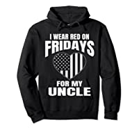 Red Fridays Deployed Uncle T-shirt Hoodie Black