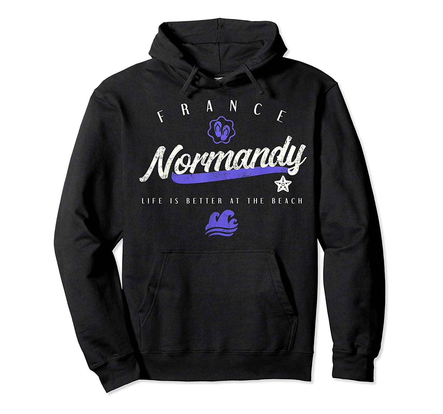 Normandy France Beach T Shirt Unisex Pullover Hoodie