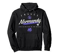 Normandy France Beach T Shirt Hoodie Black