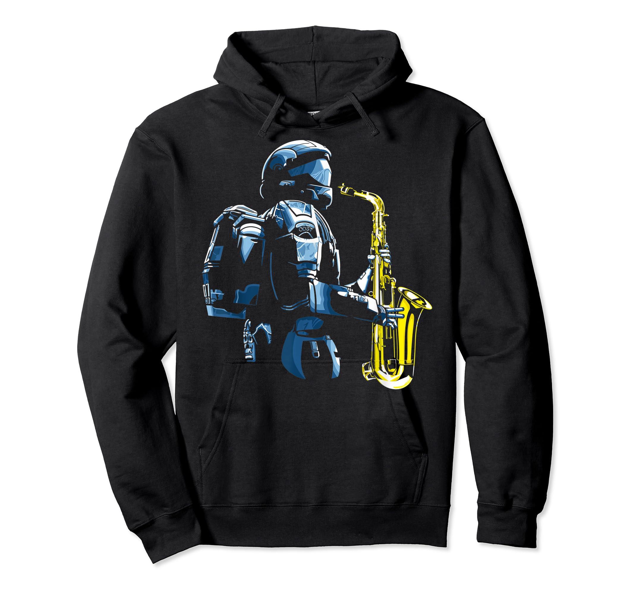 Halo ODST Jazz T-Shirt-Hoodie-Black
