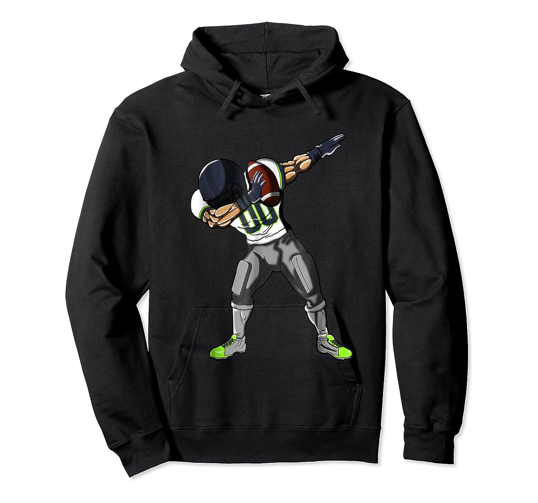 Football Dabbing T Shirt Funny Gray Navy Neon Green  Unisex Pullover Hoodie