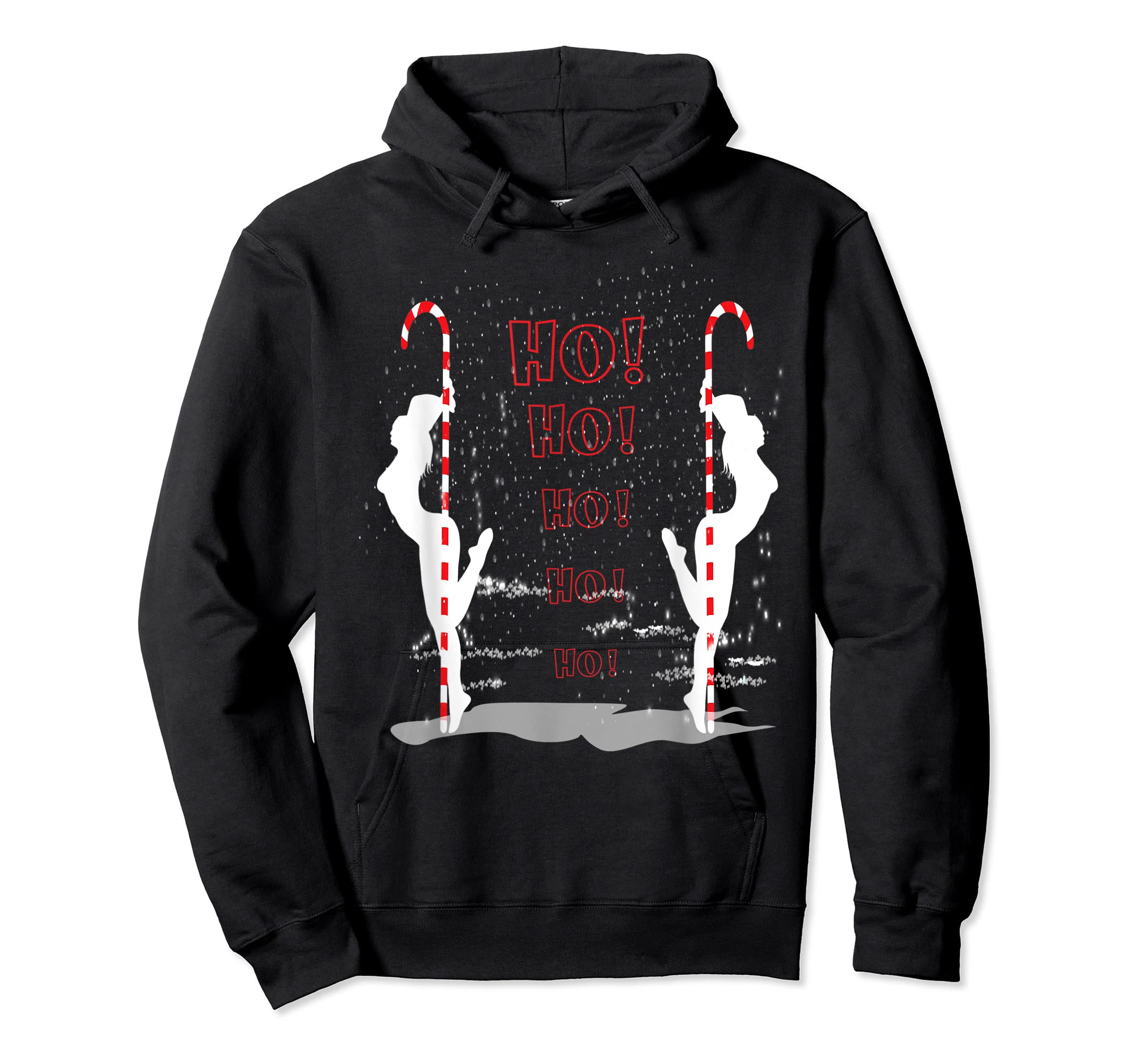 Funny Ugly Christmas Stripper Pole Dance Dancing Xmas Gift T-Shirt-Hoodie-Black