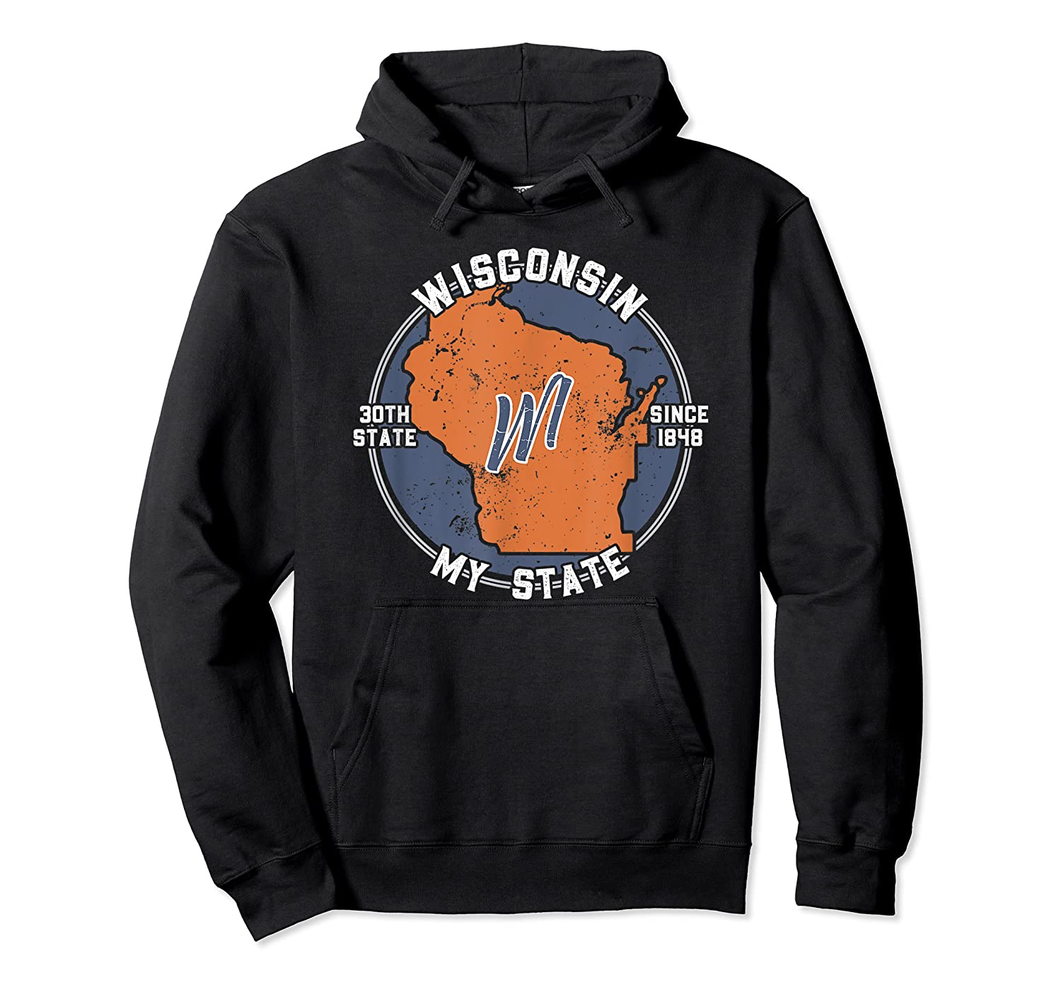 Wisconsin State Tourist Gift Shirts Unisex Pullover Hoodie