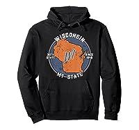 Wisconsin State Tourist Gift Shirts Hoodie Black