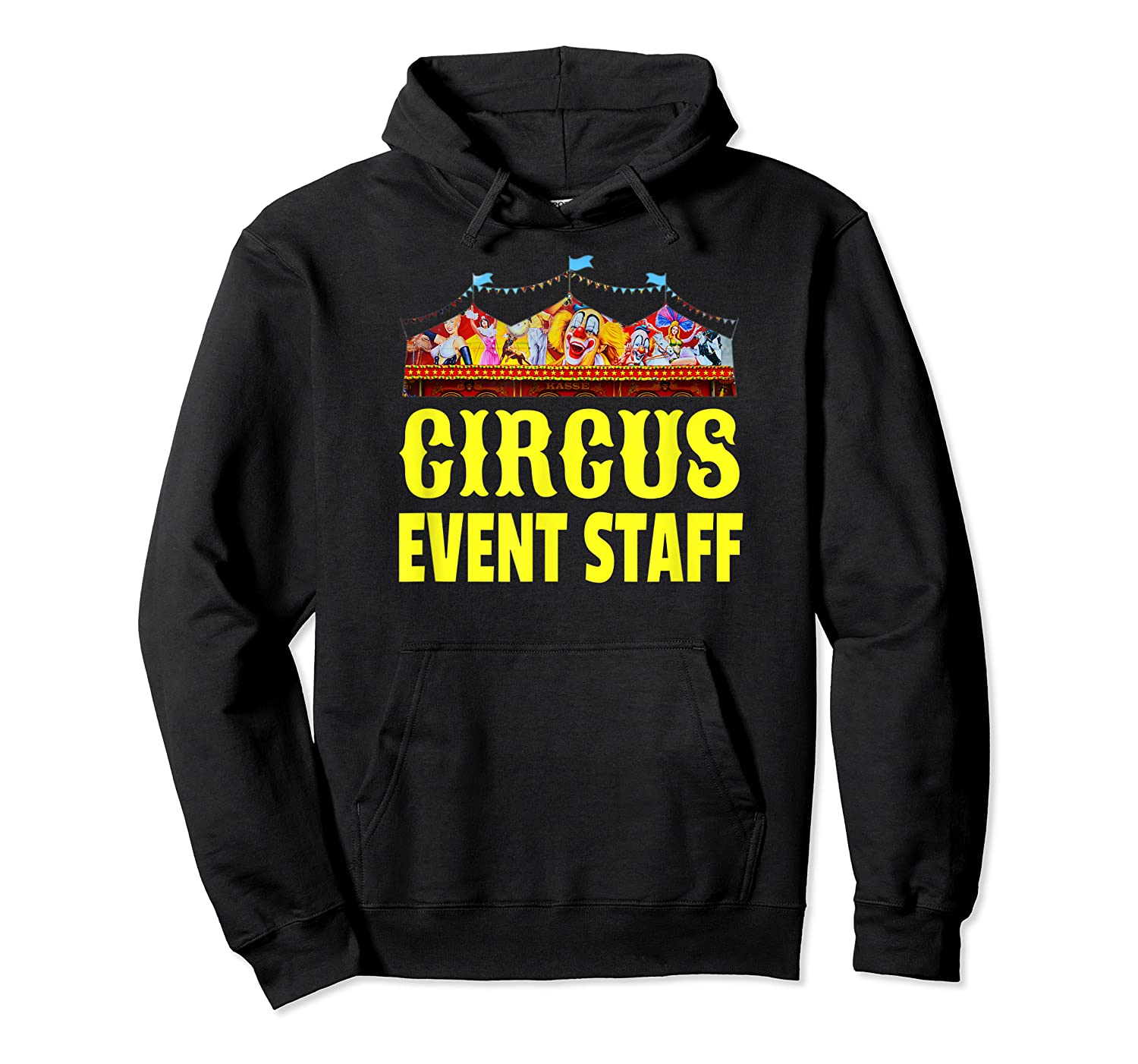 Circus Event Staff T-shirt   Carnival Birthday Party Shirt Unisex Pullover Hoodie