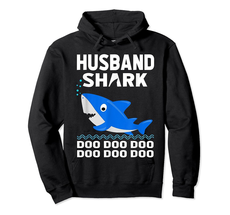Husband Shark Doo Doo Shirt For Matching Family Pajamas Unisex Pullover Hoodie