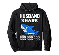 Husband Shark Doo Doo Shirt For Matching Family Pajamas Hoodie Black