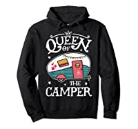 Queen Of The Camper Outdoor Camping Camper Girls Shirts Hoodie Black