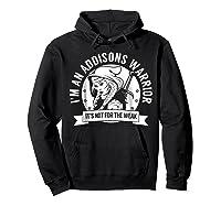 Addisons Hooded Warrior T-shirt- Addisons Disease Awareness Hoodie Black