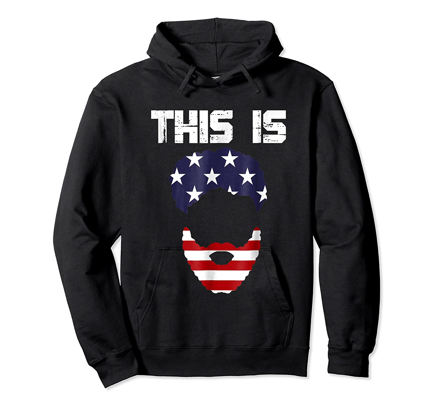 This Is American Beard T Shirt America Flag 4th July Unisex Pullover Hoodie