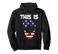 This Is American Beard T Shirt America Flag 4th July Hoodie Black