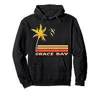 Retro Grace Bay Beach T-shirt Island Paradise Shirt Hoodie Black