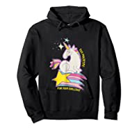 Too For Your Bs Unicorn T-shirt Rainbow Sparkles Hoodie Black