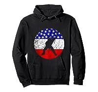American Flag Hockey Vintage Retro Hockey Player Shirts Hoodie Black