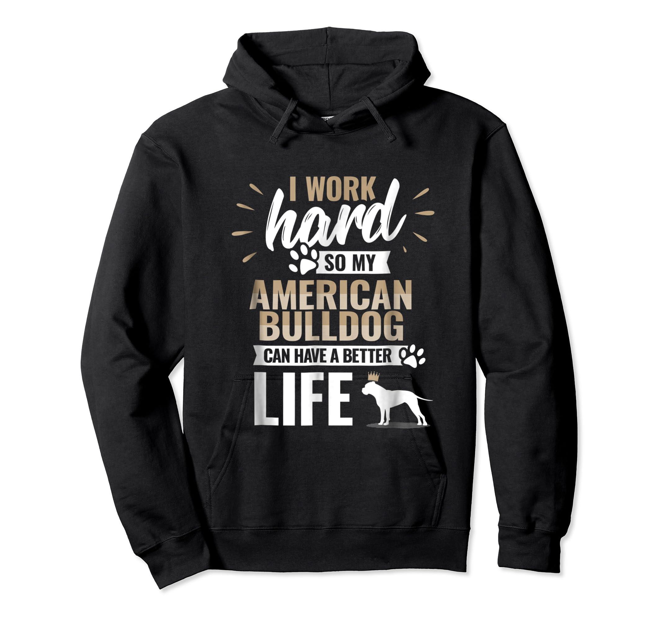 Cool Dog T-Shirt American Bulldog Owner Gift-Hoodie-Black