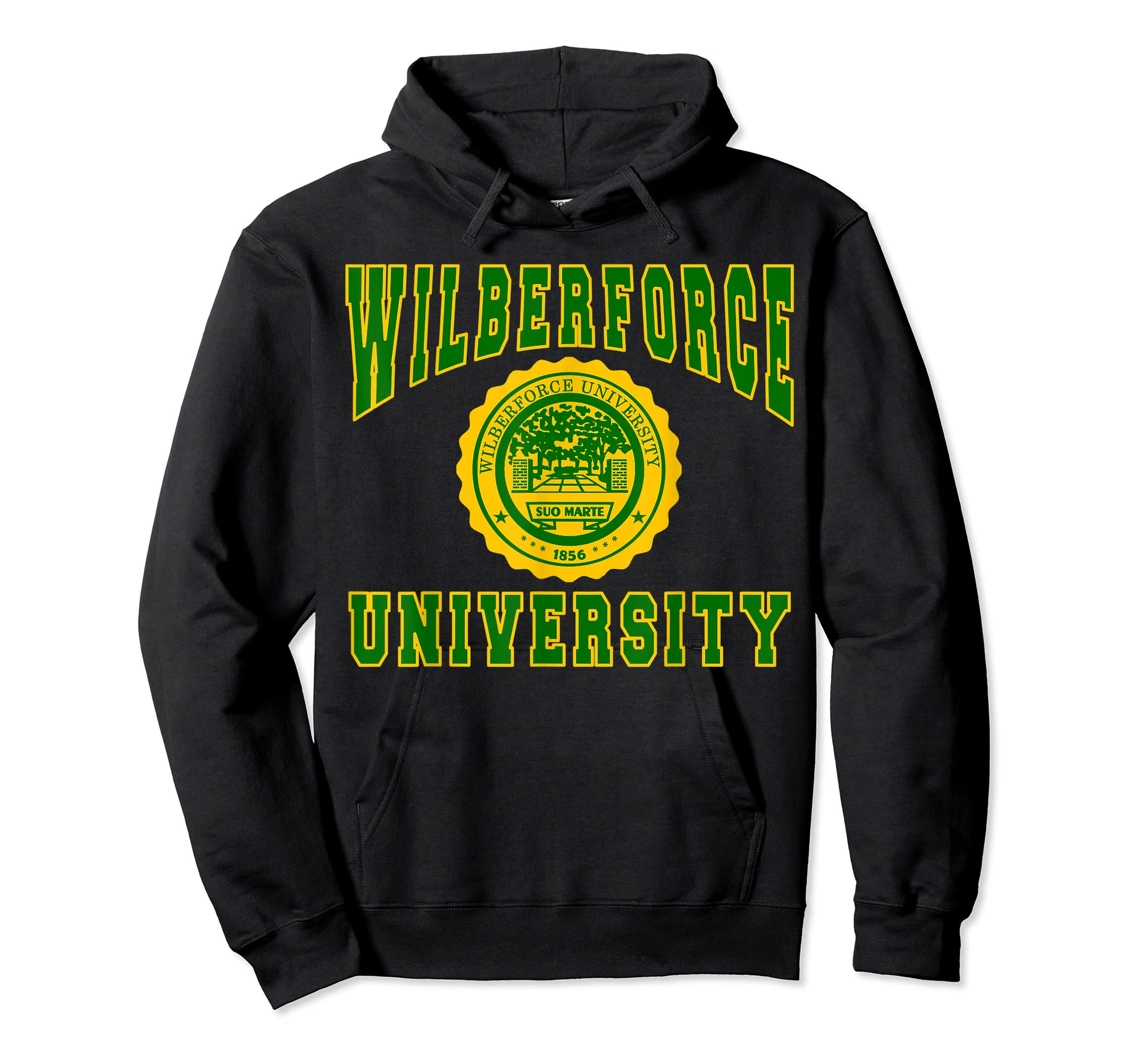 Wilberforce 1856 University Apparel - T shirt-Hoodie-Black