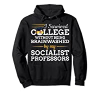 Anti Socialism Capitalism College Graduate I Survived Shirts Hoodie Black