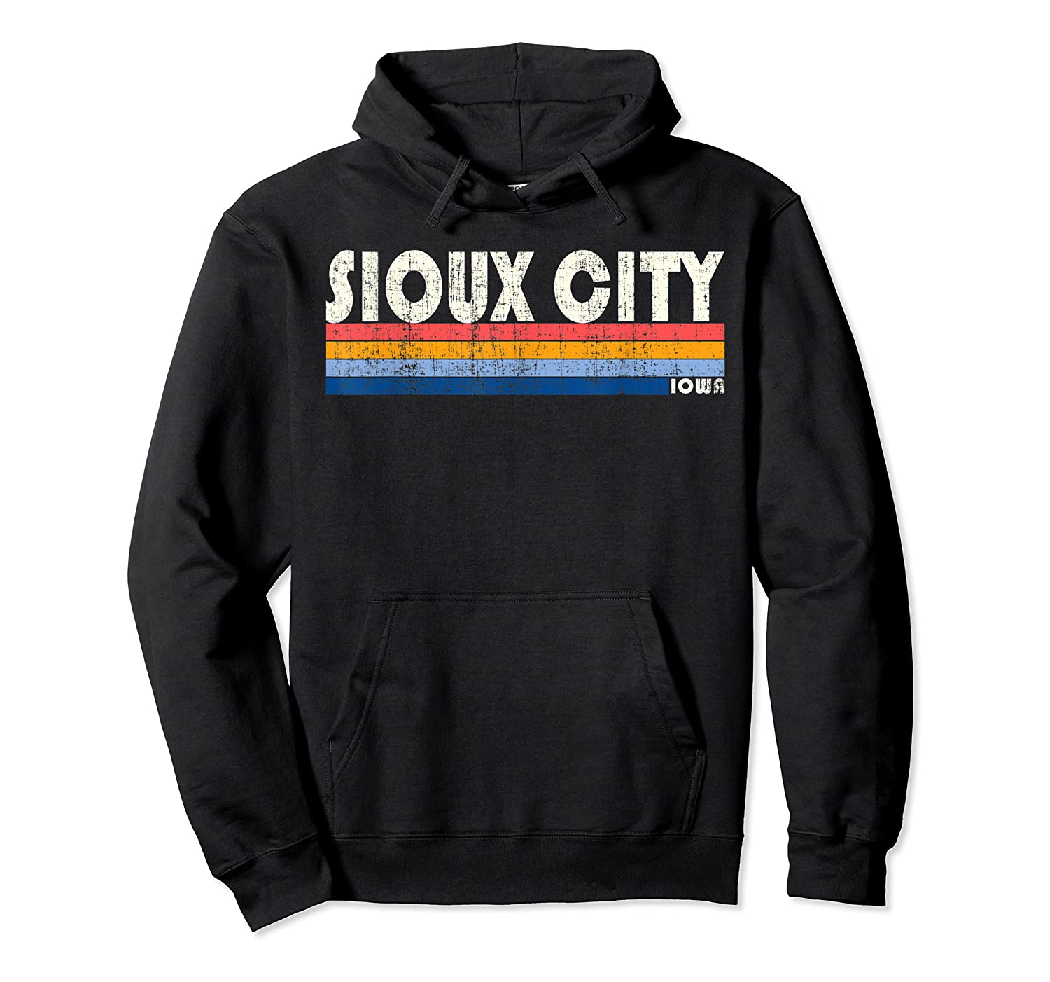 Vintage 70s 80s Style Sioux City Ia T Shirt Unisex Pullover Hoodie
