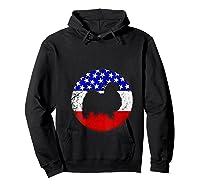 American Flag Japanese Chin Vintage Retro Japanese Chin Dog Shirts Hoodie Black