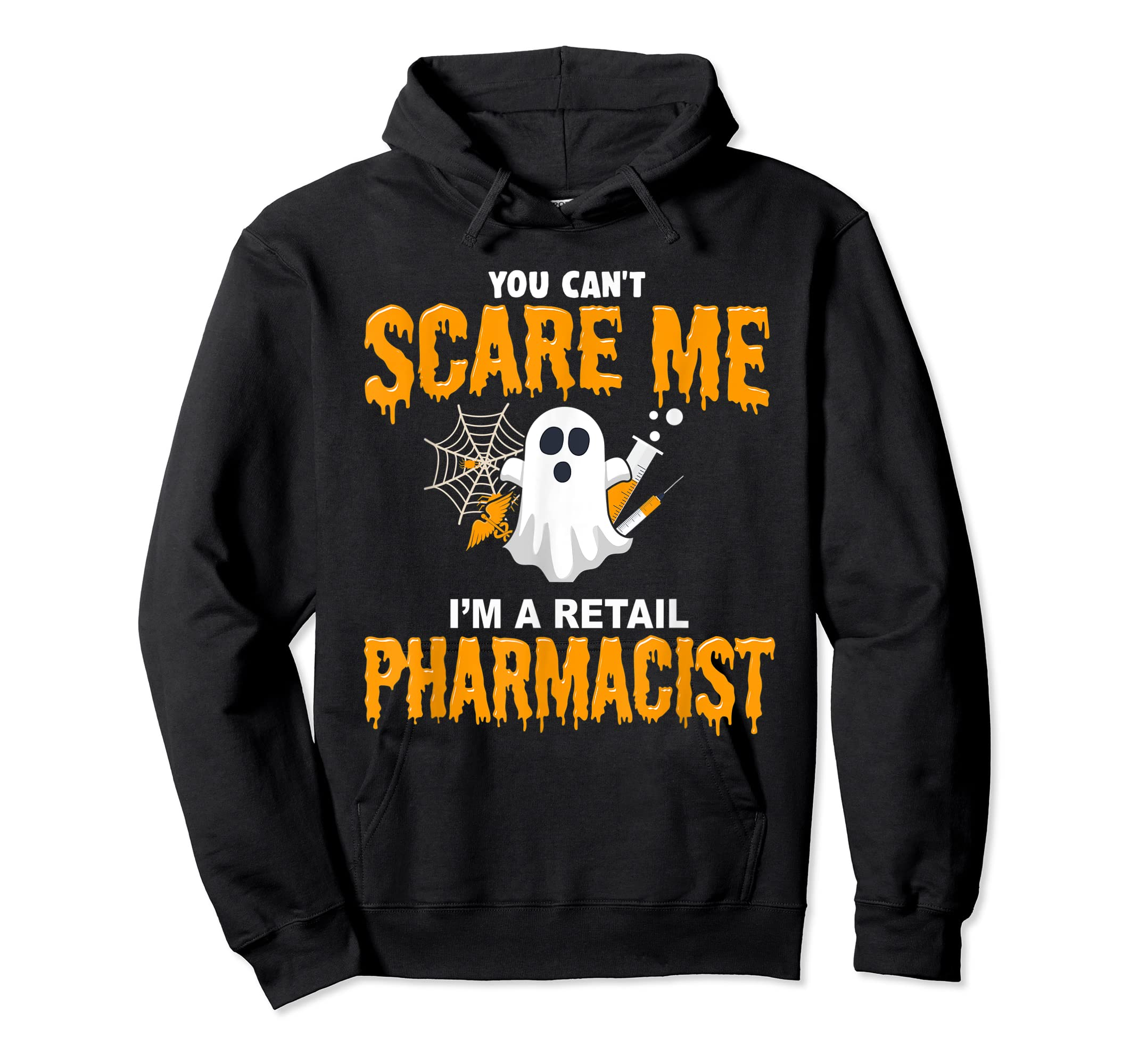 Halloween Costume Shirt I'm A Retail Pharmacist  T-Shirt-Hoodie-Black