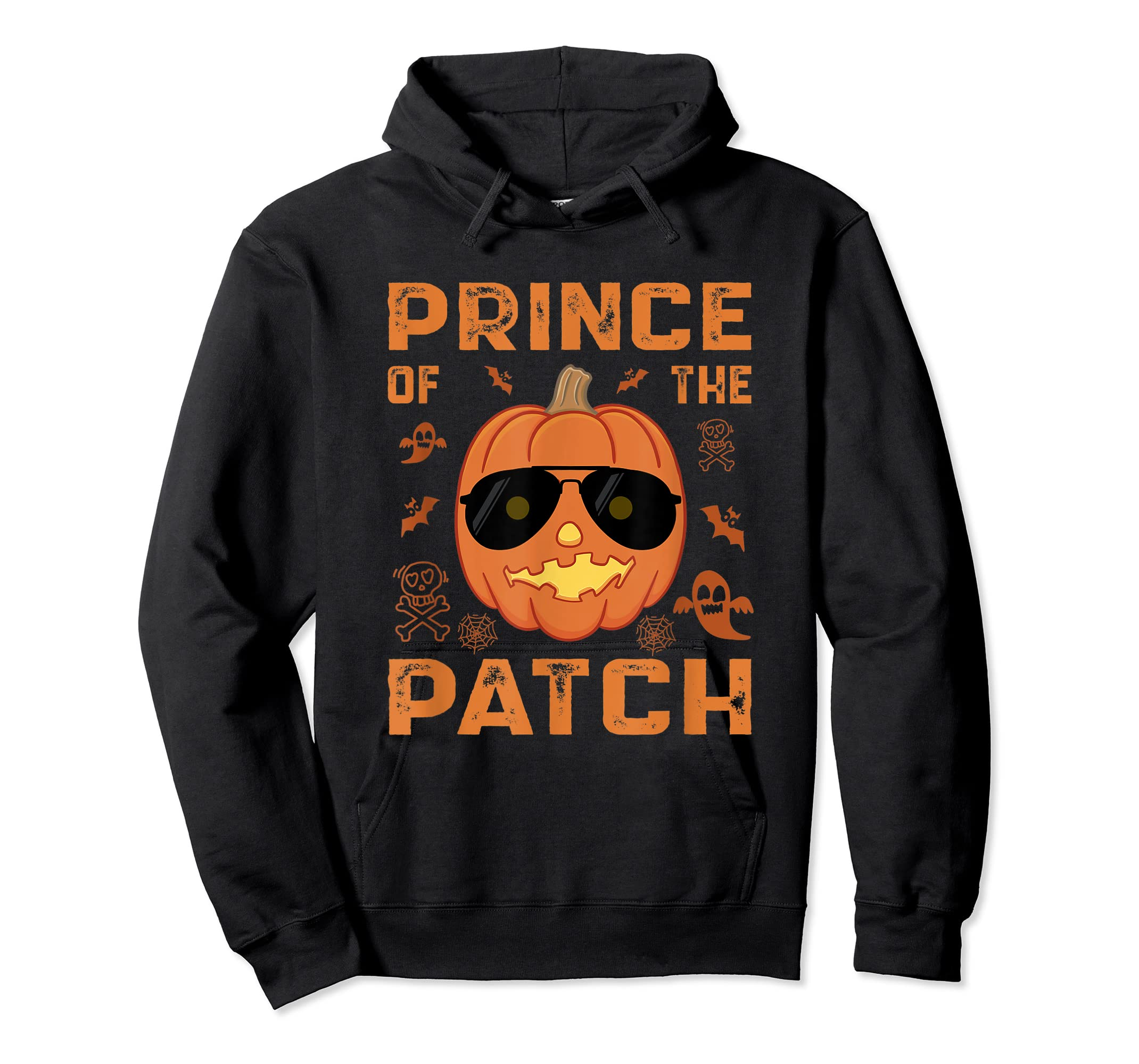 Pumpkin Prince of the Patch Group Family Halloween Costume T-Shirt-Hoodie-Black