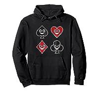 Playing Cards Emoji Spades Clubs Diamonds Hearts Shirt Hoodie Black