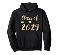 Class Of 2029 Grow With Me First Day Of School Gold Shirts Hoodie Black