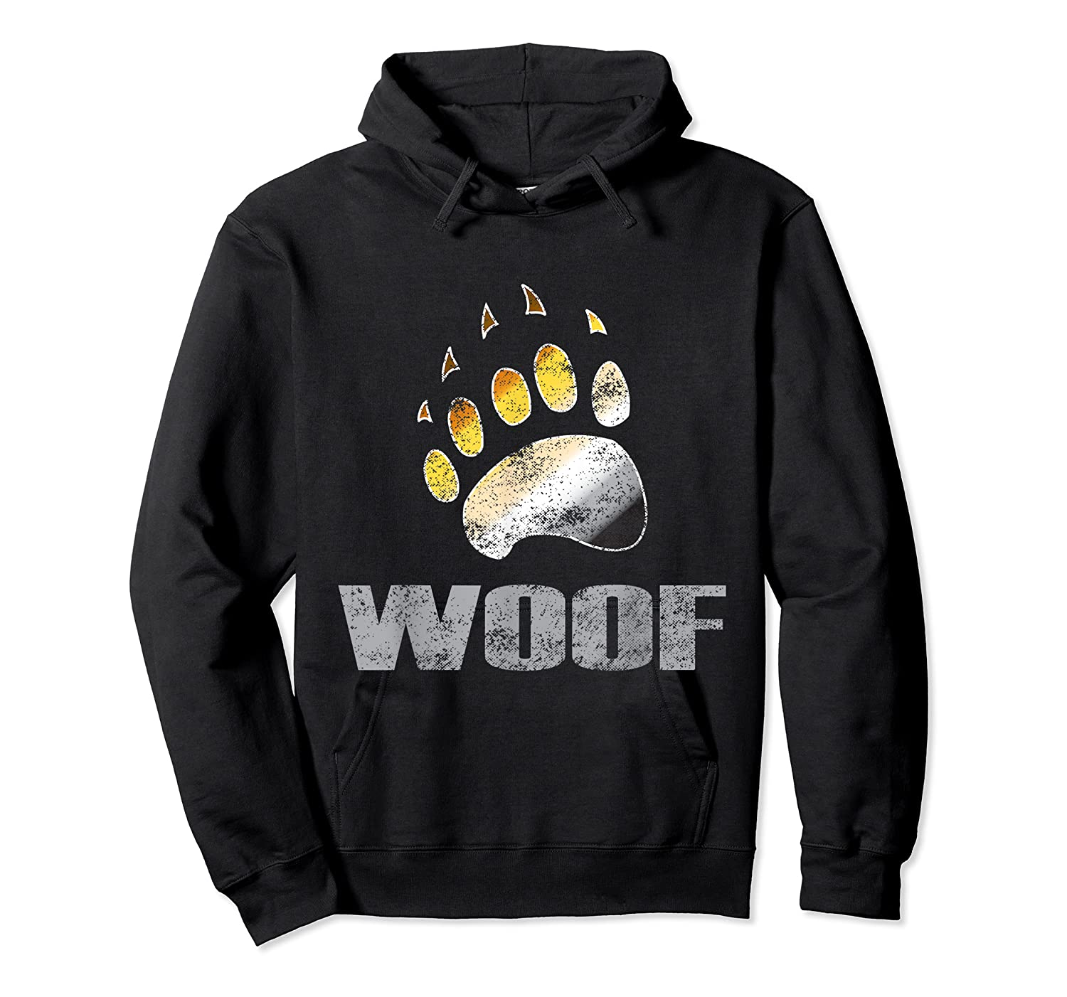 Bear Pride Woof Bear Claw Symbol Distressed For Shirts Unisex Pullover Hoodie