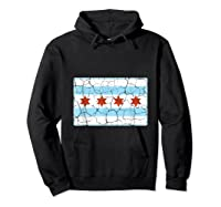 Chicago City Flag Shirt Illinois Retro Vintage Hoodie Black
