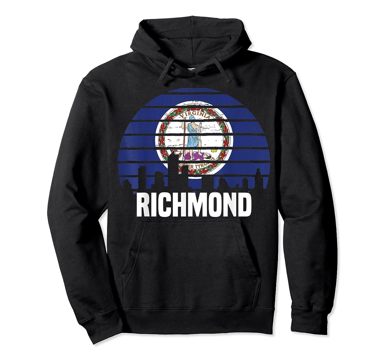 Richmond Virginia T Shirt Va Group City Trip Silhouette Flag Unisex Pullover Hoodie