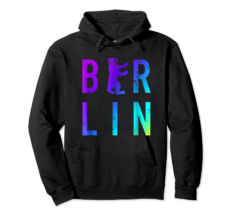 Berlin Germany City Bear Colorful Souvenir T Shirt Unisex Pullover Hoodie