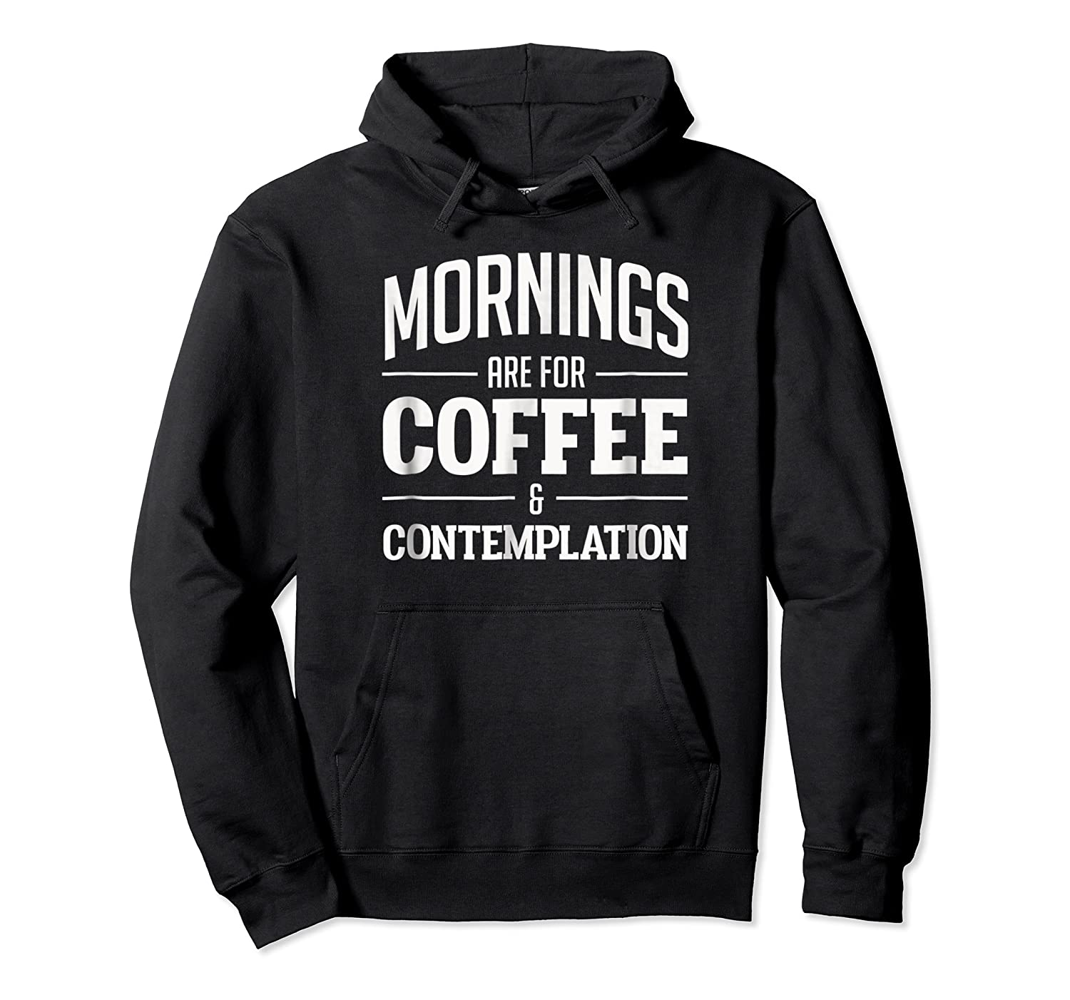 Netflix Stranger Things Mornings Are For Coffee Shirts Unisex Pullover Hoodie