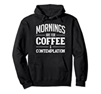 Netflix Stranger Things Mornings Are For Coffee Shirts Hoodie Black