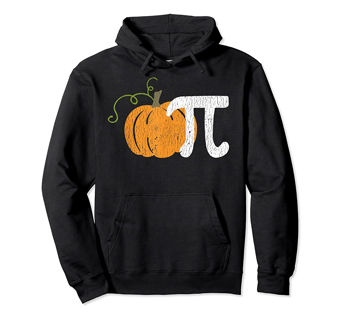 Funny Pumpkin Pie Math Teacher Halloween Pi Humor T-Shirt-Hoodie-Black