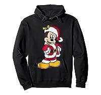 Disney Santa Mickey Mouse Holiday T-shirt Hoodie Black