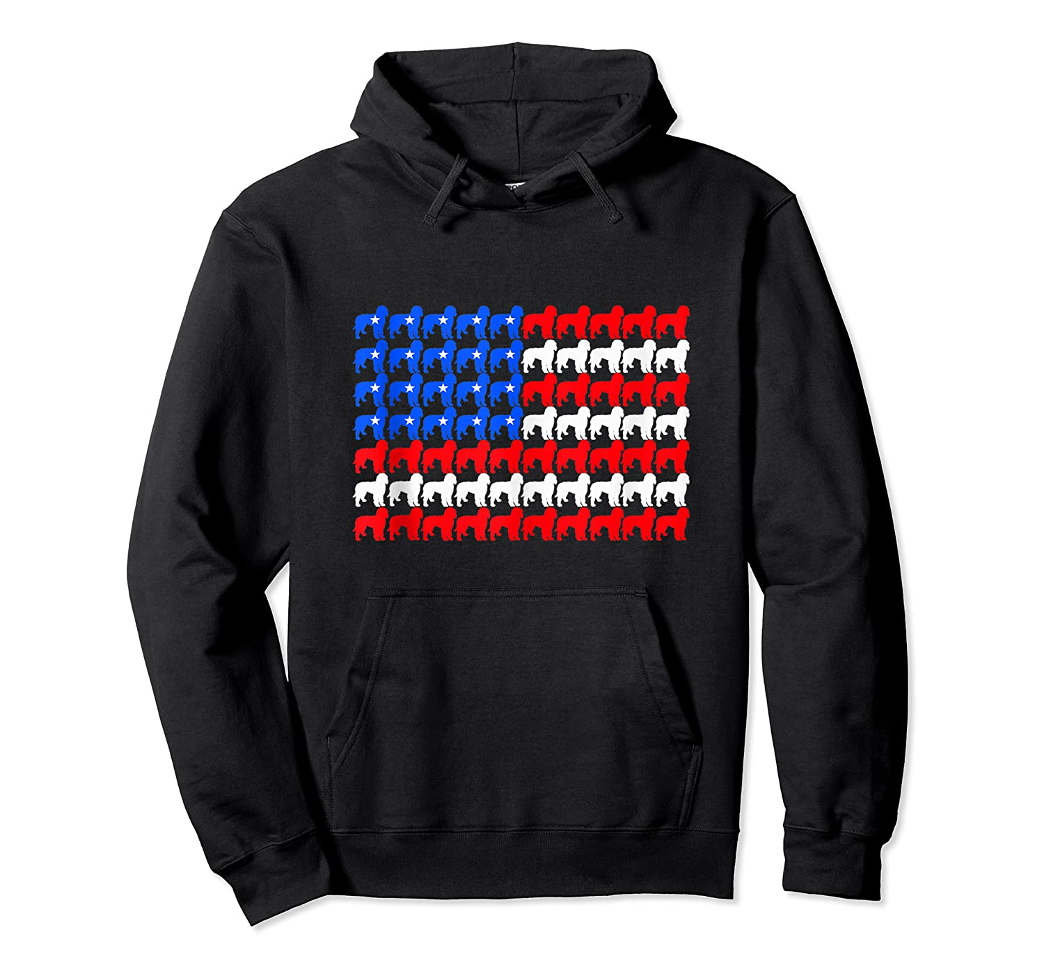 Goldendoodle 4th Of July Usa American Flag Patriotic Dog Shirts Unisex Pullover Hoodie