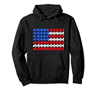 Goldendoodle 4th Of July Usa American Flag Patriotic Dog Shirts Hoodie Black