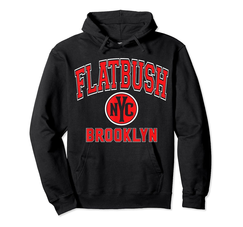 Flatbush Varsity Style Nyc Red Print T Shirt Unisex Pullover Hoodie