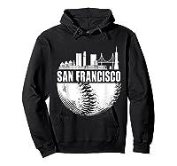 San Francisco Skyline City Baseball T Shirt Souvenir Skyline Hoodie Black