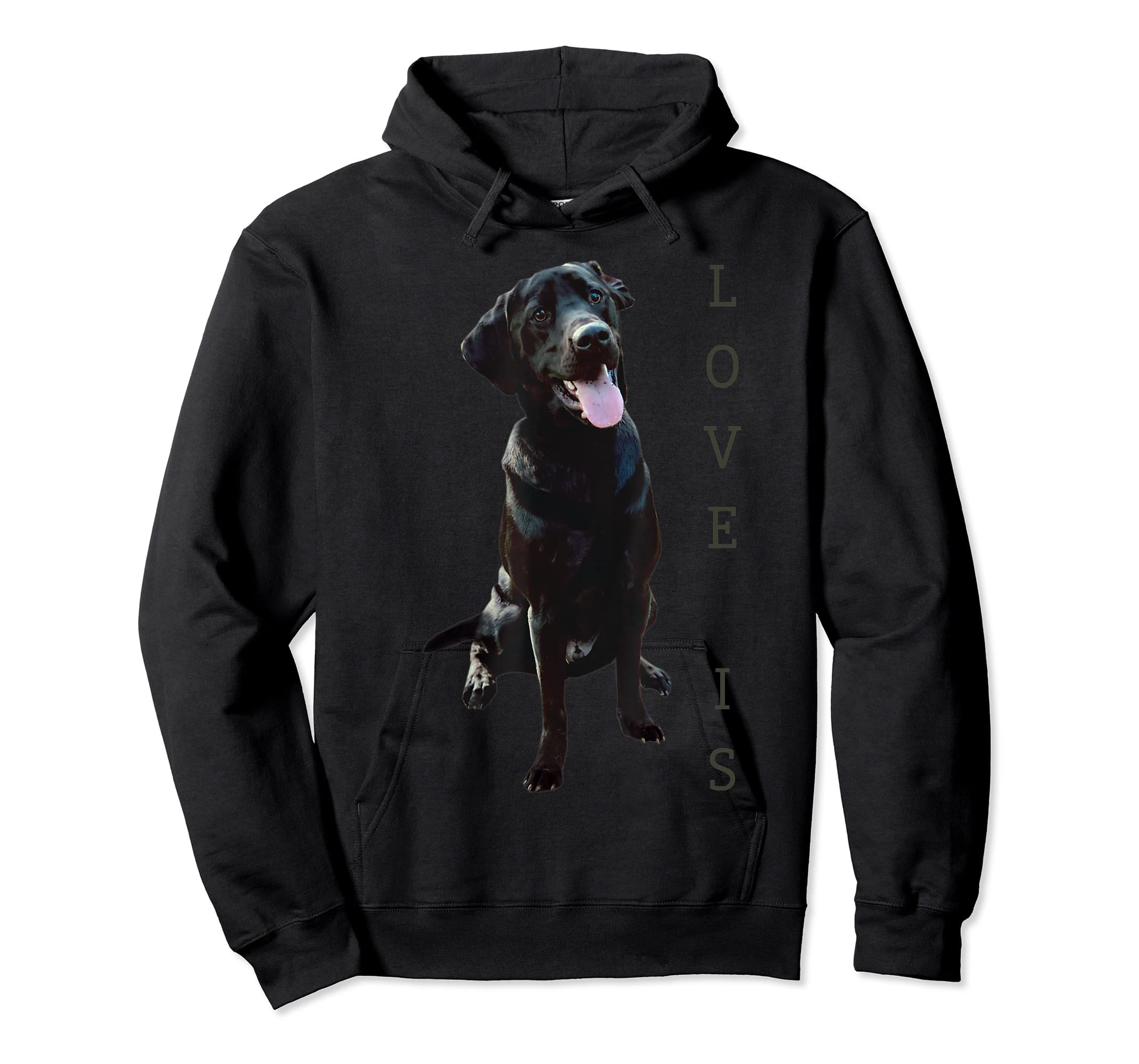 Labrador Retriever Shirt Women Men Kids Black Lab Dog Mom-Hoodie-Black